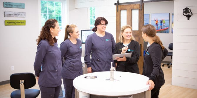 Mbrace Orthodontics Falmouth Maine Orthodontic Office Team Candids.jpg 29 670x335 - Our Empowering Team