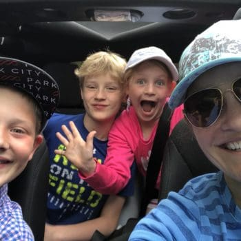 Selfie in Jeep with kids 350x350 - Meet Orthodontist Dr. Tarryn Mac Carthy
