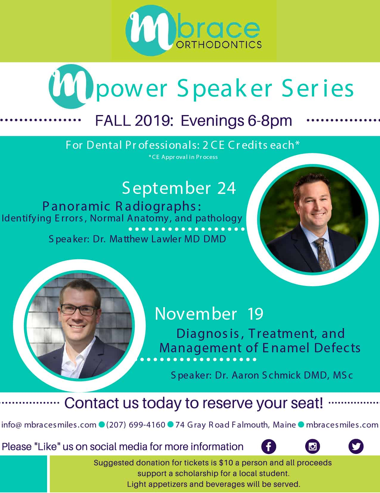 mPower Lecture Series Flyers Fall 2019 01 - Mpower Speaker Series: Fall Schedule 2019