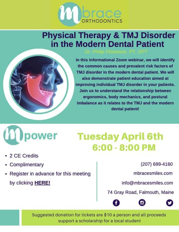 Finemore TMJ mPower Lecture Series April 6 2021 - Mpower Speaker Series: Physical Therapy & TMJ Disorder